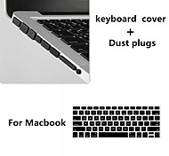 High Quality Solid Color TPU Keyboard Cover and Dust plugs for Macbook Retina 15.4 inch (Assorted Colors)