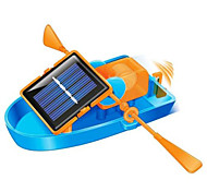 kit brinquedo diy barco a remo movido a energia solar, eco-friendly