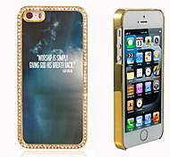el brillo brillo híbrido de lujo bling del diseño del cielo con la caja de diamantes de imitación de cristal para el iphone 5 / 5s