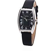 montre cadran rectangle étui en cuir de la montre à quartz marque de mode des femmes (plus de couleurs disponibles)