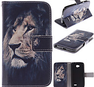 LG L70 PU Leather Full Body Cases / Cases with Stand Graphic / Special Design / Novelty case cover