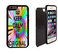 Keep Calm and Be Original Design 2 in 1 Hybrid Armor Full-Body Dual Layer Shock-Protector Slim Case for iPhone 6