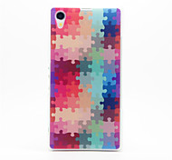 Puzzle Pattern Plastic Hard Back Case Cover for Sony Z1