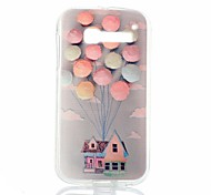 Balloon House Pattern Thin Transparent TPU Phone Case for Alcatel One Touch Pop C5