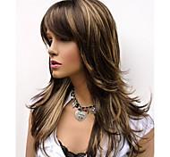 natural a longo alice ficou marrom com reflexos dourados peruca para a mulher