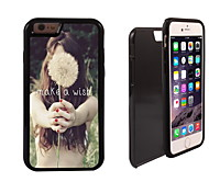 Make a Wish Letter Design 2 in 1 Hybrid Armor Full-Body Dual Layer Shock-Protector Slim Case for iPhone 6