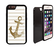 la conception de l'ancre d'or 2 en 1 armure hybride complet du corps à double couche choc protecteur mince affaire pour iPhone6