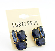 Fashion Wild High-grade Glass Zircon Crystal Earrings*1pc