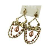 Fashion Jewelry Pearl Earrings Elegant Aolly Wedding  Earrings  (1 pairs)