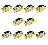 15pin VGA Male to VGA Female Mini Gender Changer Adapters (10 PCS)