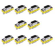 Adaptadores 15pin vga macho a VGA hembra de mini cambiador de género (10 piezas)