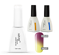 Azure 3 Pcs/Lot Chameleon Temperature UV Gel Soak-off Nail Care Polish for Nail Beauty(#19+BASE+TOP)