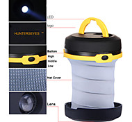 Huntereyes™ Outdoor Portable Compressible 1 LED Hanging Camping Lamp (3*AA) Yellow  C3-2