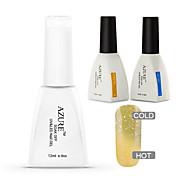 Azure 3 Pcs/Lot Nail Gel Polish Temperature Changing Color  Soak Off Nail Art UV Gel Polish(#29+BASE+TOP)