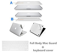Top Quality Sliver Ultra Slim Full Body Protect Sticker and Keyboard Film for Macbook Air 11.6 inch (Assorted Colors)