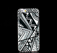 Geometric Black & White Pattern Plastic Case Cover for iPhone 6