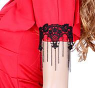 Women's  Vintage Black Lace Purl Chain Bracelets