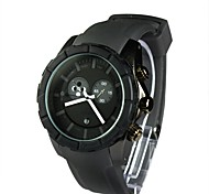 Men's Black Dial Silicone Band Calendar Water Resistant Feature Sport Watch(Assorted Colors)