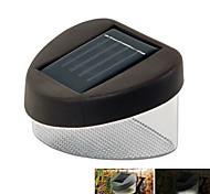 hry® 2LEDs luces solares de luz de color blanco de la lámpara solar de la cerca ip67