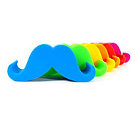 Mustache Shaped Silicone Mobile Phone Cellphone Holder (Random Color)