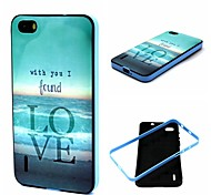 Sea Pattern TPU + PC Side Combo Phone Case For Huawei Honor 6