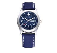 Men's High Quality Alloy Nylon band Water resistant Japan Quartz Movement wristwatches