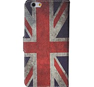 Vintage UK Flag Pattern PU Leather Full Body Case with Card Holder for Iphone 6 plus