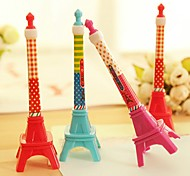 Cute Iron Tower Style BallPoll Pen (Random Color)