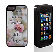 To Be Happy Pattern 2 in 1 Hybrid Armor Full-Body Dual Layer Shock-Protector Slim Case for iPhone 5/5S