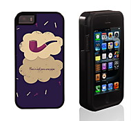 Tobacco Pipe Design 2 in 1 Hybrid Armor Full-Body Dual Layer Shock-Protector Slim Case for iPhone 5/5S/5S