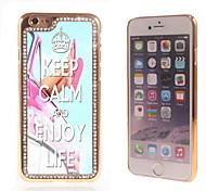 behalten Sie Ruhe und genießen Sie das Leben Design Luxus-Hybrid-Bling Funkeln-Schein mit Kristallrhinestone-Kasten für iPhone 6