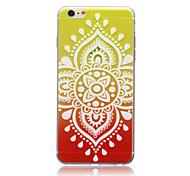 padrão spider®lantern magia TPU pintura ultra fino de volta caso com protetor de tela para iphone6 mais (cores sortidas)