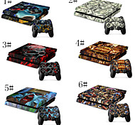 Comic Book Heroes and Villains Designer Vinyl Skin for Gaming Console and Free Controller Sticker Decal for PS4