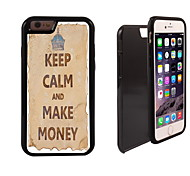 Keep Calm and Make Money Design 2 in 1 Hybrid Armor Full-Body Dual Layer Shock-Protector Slim Case for iPhone 6