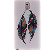 patrones de plumas de colores TPU caso suave para Samsung Galaxy Note 3