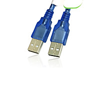 0,3 m / 1 ft usb 2.0-male naar USB 2.0-male adapter converter verlengkabel blauw