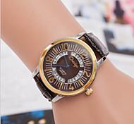 cadran rond cas montre en cuir de montre à quartz marque de mode des femmes (plus de couleurs disponibles)