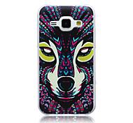 Wolf Muster slim TPU Material Softphone für Samsung-Galaxie j1