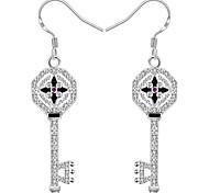 Women's Gorgeous Key 925 Silver Plated Earrings