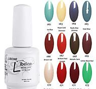 LIBEINE Soak Off 15 ML UV Gel Nail Polish Color Gel Polish Assorted Colors No.062-073