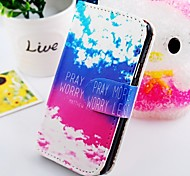 The Blue Sky Wallet Stand PU Leather Case For Samsung Galaxy S2 SII i9100 Bag Cover With Card Slo