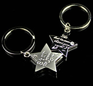 Alloy Star Lovers Key Chain