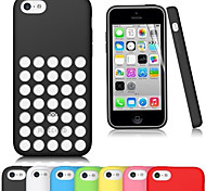 Soft Silica Gel with Hole Case for iPhone 5C(Assorted Color)