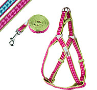 Fashion Check Pattern Pet Harness & Leash Set for Dogs and Cats  (Assorted Colors and Sizes)