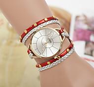 Hot Light Version Diamond Bracelet Watch Women's Three Ring Winding Watch Cool Watches Unique Watches