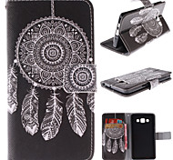For Samsung Galaxy Case Card Holder / with Stand / Flip / Pattern / Magnetic Case Full Body Case Dream Catcher PU Leather Samsung A3
