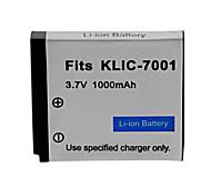 1000mah batería de la cámara para Kodak KLIC-7001