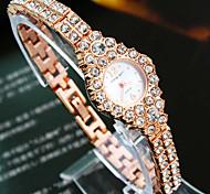 Women's New Explosion Round Diamond Dial Diamond Strap Fashion Quartz Watch Bangle Watch