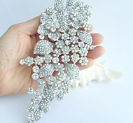 Wedding Accessories Silver-tone AB Clear Rhinestone Crystal Bridal Brooch Wedding Deco Bridal Bouquet Wedding Brooch