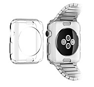 TPU transparente de color suave cubierta de la caja protectora para el iWatch de Apple (38 mm)
